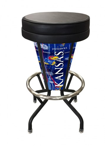 Kansas Jayhawks Indoor/Outdoor Lighted Bar Stool