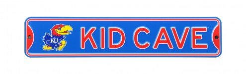 Kansas Jayhawks Kid Cave Street Sign