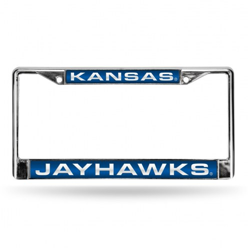 Kansas Jayhawks Laser Chrome License Plate Frame