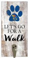 Kansas Jayhawks Leash Holder Sign