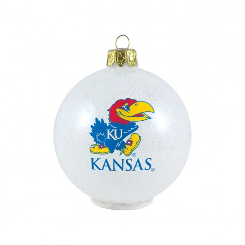 Kansas Jayhawks LED Color Changing Ball Ornament