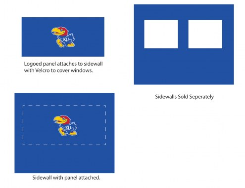 Kansas Jayhawks Logo Canopy Sidewall Panel (Attaches to Window Sidewall)