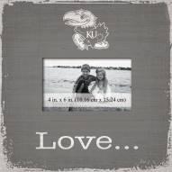 Kansas Jayhawks Love Picture Frame