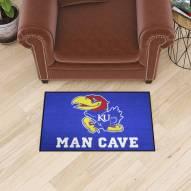 Kansas Jayhawks Man Cave Starter Mat
