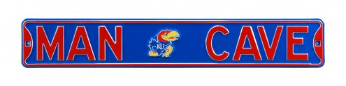 Kansas Jayhawks Man Cave Street Sign