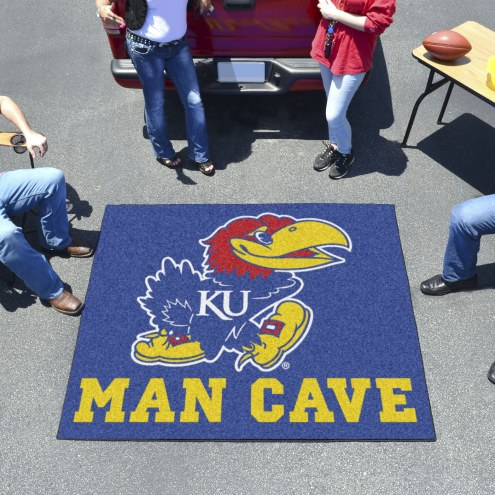 Kansas Jayhawks Man Cave Tailgate Mat