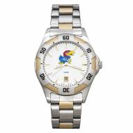 Kansas Jayhawks Men's All-Pro Two-Tone Watch