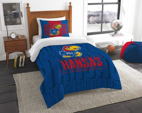 Kansas Jayhawks Modern Take Twin Comforter Set