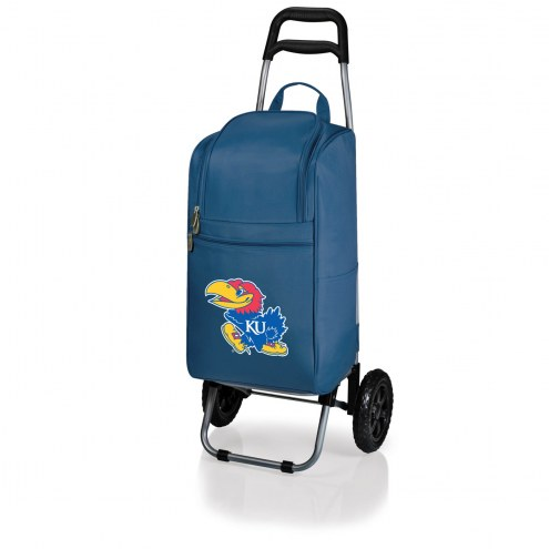 Kansas Jayhawks Navy Cart Cooler
