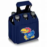 Kansas Jayhawks Navy Six Pack Cooler Tote