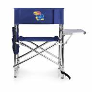 Kansas Jayhawks Navy Sports Folding Chair