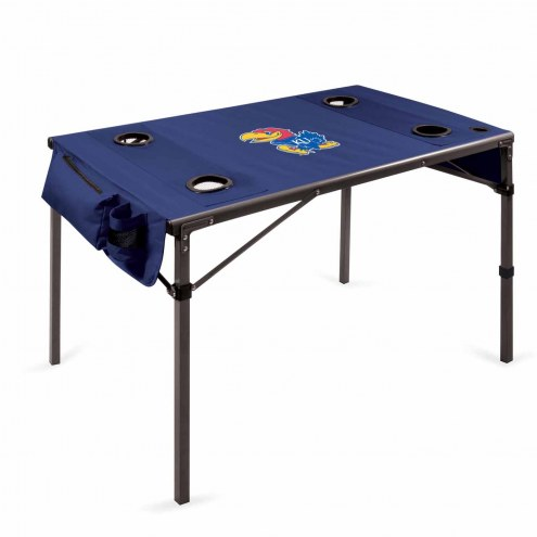 Kansas Jayhawks Navy Travel Table
