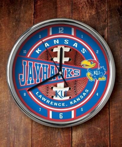 Kansas Jayhawks NCAA Chrome Wall Clock