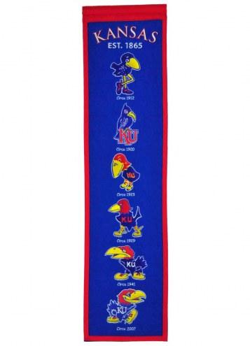 Kansas Jayhawks NCAA Heritage Banner