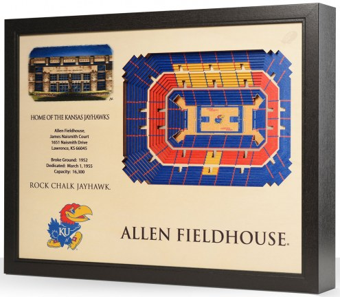 Kansas Jayhawks 25-Layer StadiumViews 3D Wall Art