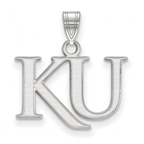 Kansas Jayhawks Sterling Silver Small Pendant