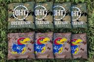 Kansas Jayhawks Operation Hat Trick Cornhole Bag Set
