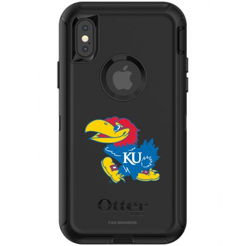 Kansas Jayhawks OtterBox iPhone X/Xs Defender Black Case