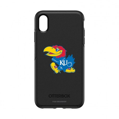 Kansas Jayhawks OtterBox iPhone XS Max Symmetry Black Case