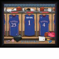 Kansas Jayhawks Personalized Basketball Locker Room 11 x 14 Framed Photograph