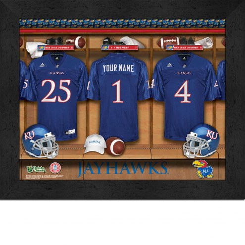Kansas Jayhawks Personalized Locker Room 11 x 14 Framed Photograph