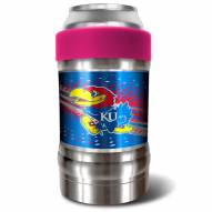 Kansas Jayhawks Pink 12 oz. Locker Vacuum Insulated Can Holder