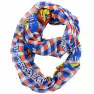 Kansas Jayhawks Plaid Sheer Infinity Scarf