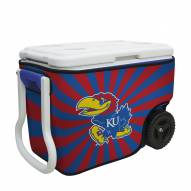 Kansas Jayhawks Rappz 40qt Cooler Cover (Cooler not included)