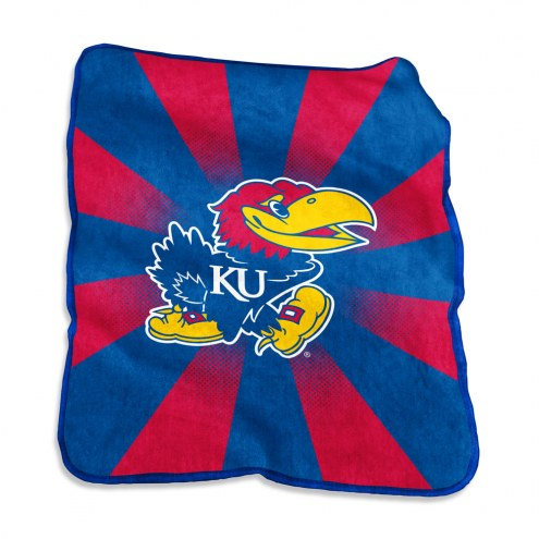 Kansas Jayhawks Raschel Throw Blanket