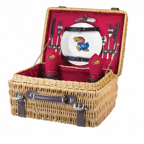 Kansas Jayhawks Red Champion Picnic Basket
