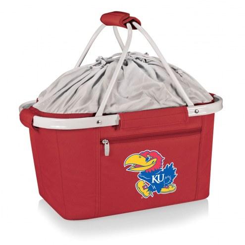 Kansas Jayhawks Red Metro Picnic Basket