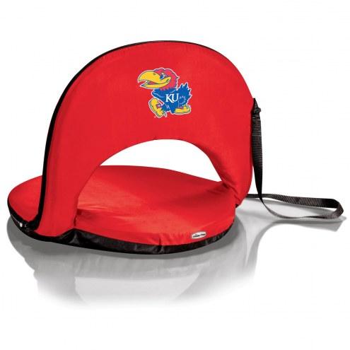 Kansas Jayhawks Red Oniva Beach Chair