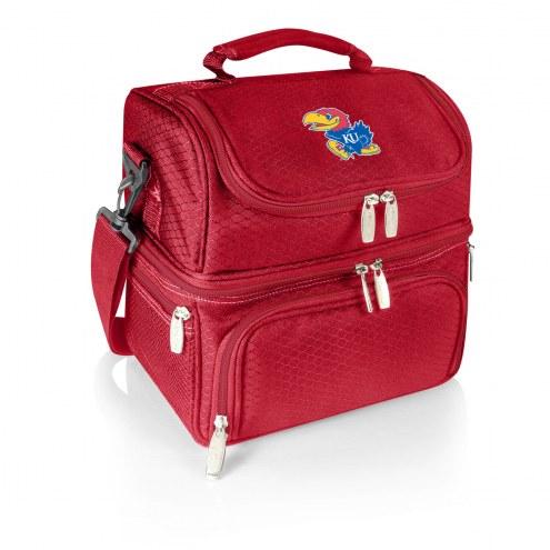 Kansas Jayhawks Red Pranzo Insulated Lunch Box