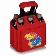 Kansas Jayhawks Red Six Pack Cooler Tote