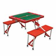 Kansas Jayhawks Red Sports Folding Picnic Table