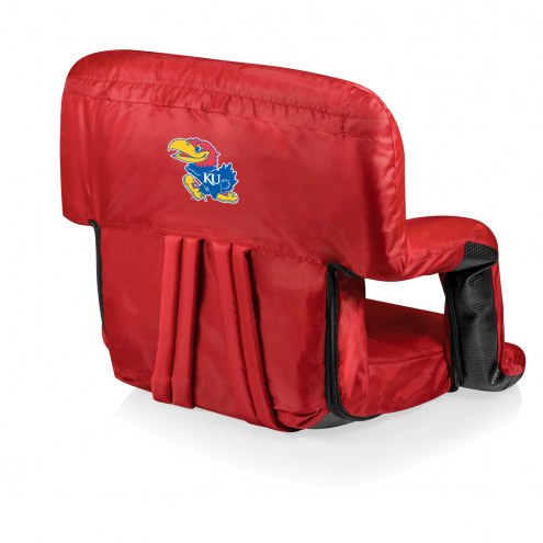 Kansas Jayhawks Red Ventura Portable Outdoor Recliner