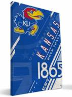 Kansas Jayhawks Retro Canvas Print