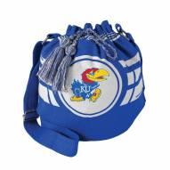 Kansas Jayhawks Ripple Drawstring Bucket Bag