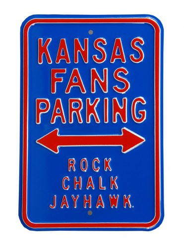 Kansas Jayhawks Rock Chalk Parking Sign