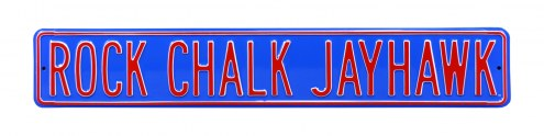 Kansas Jayhawks Rock Chalk Street Sign
