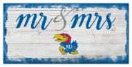 Kansas Jayhawks Script Mr. & Mrs. Sign