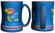 Kansas Jayhawks Sculpted Relief Coffee Mug