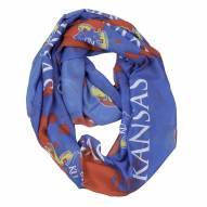 Kansas Jayhawks Silky Infinity Scarf