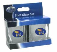Kansas Jayhawks Shot Glass Set