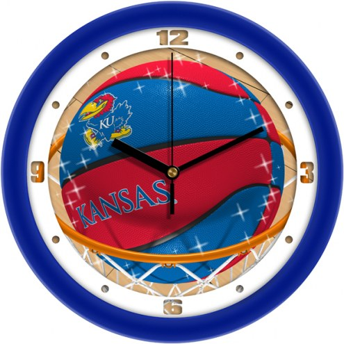 Kansas Jayhawks Slam Dunk Wall Clock