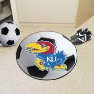 Kansas Jayhawks Soccer Ball Mat