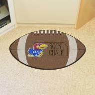 Kansas Jayhawks Southern Style Football Floor Mat