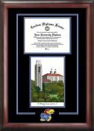 Kansas Jayhawks Spirit Diploma Frame with Campus Image