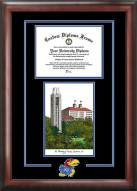 Kansas Jayhawks Spirit Diploma Frame with Campus Image