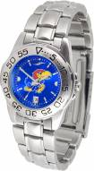 Kansas Jayhawks Sport Steel AnoChrome Women's Watch